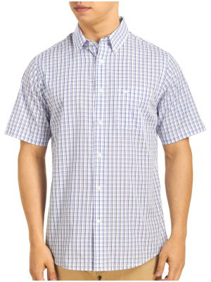Dockers men 39 s no wrinkle short sleeve roadmap shirt for Dockers wrinkle free shirts